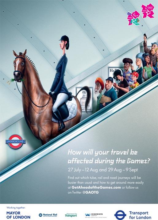 Cavallo sulla metropolitana