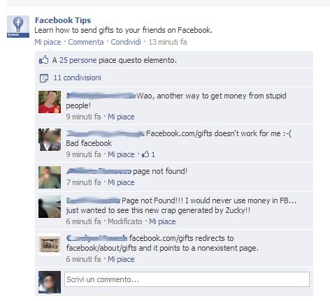 Regali Facebook