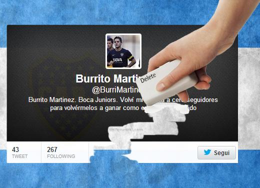 Twitter: Burrito cancella improvvisamente tutti i propri follower!