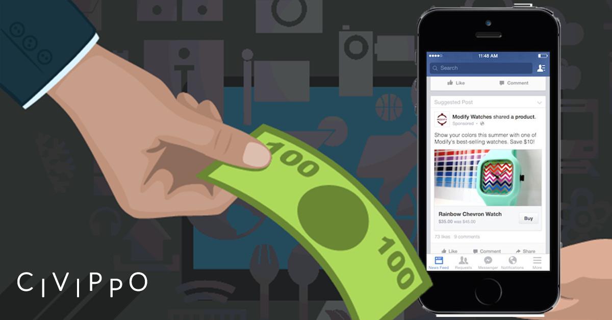 Facebook: in arrivo il tasto COMPRA
