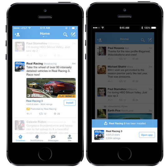 Twitter Mobile App Install Promotion