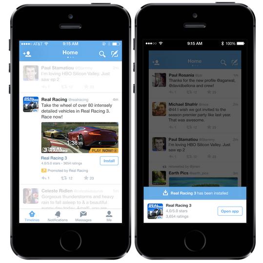 Twitter Mobile App Install Promotion