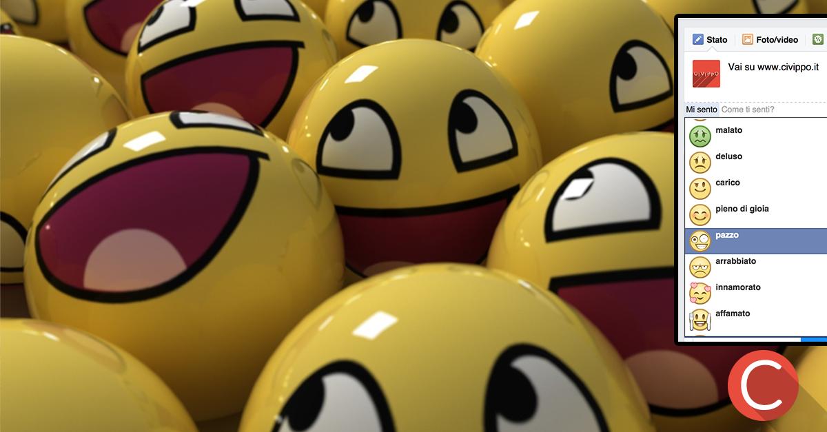 Le Pagine Facebook possono esprimere Emozioni!