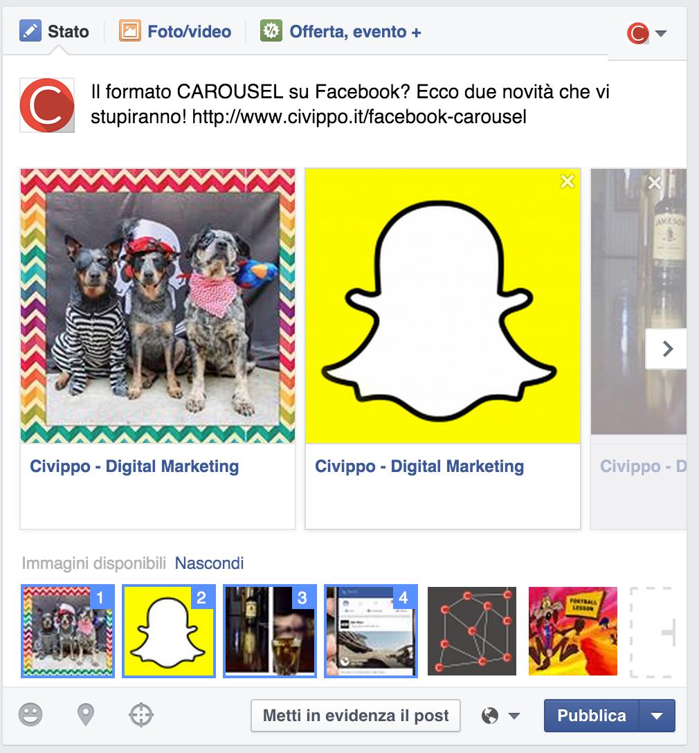 Carousel Pagina Facebook