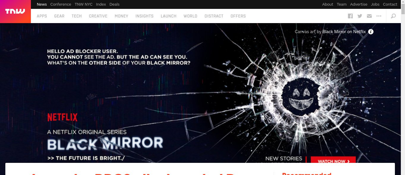 Netflix Black Mirror Ad Blockers
